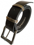 "38mm Bucklebox Black Leather Belt with Detachable Nickel Free Roller Buckle 1½"" wide"
